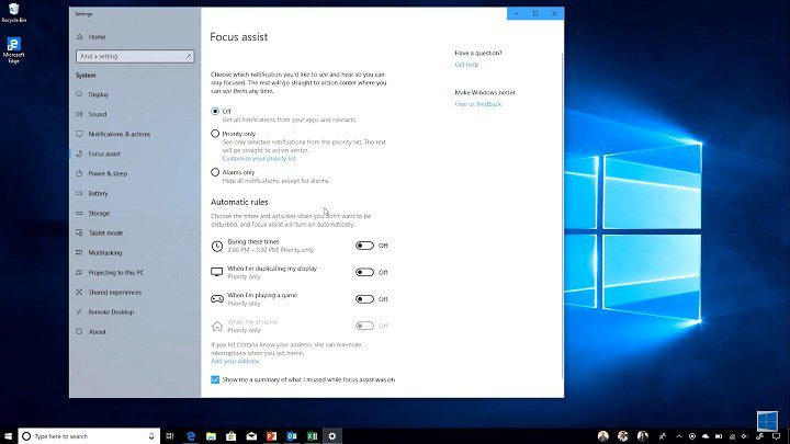 Microsoft-Windows-10-April-2018-focus-assist
