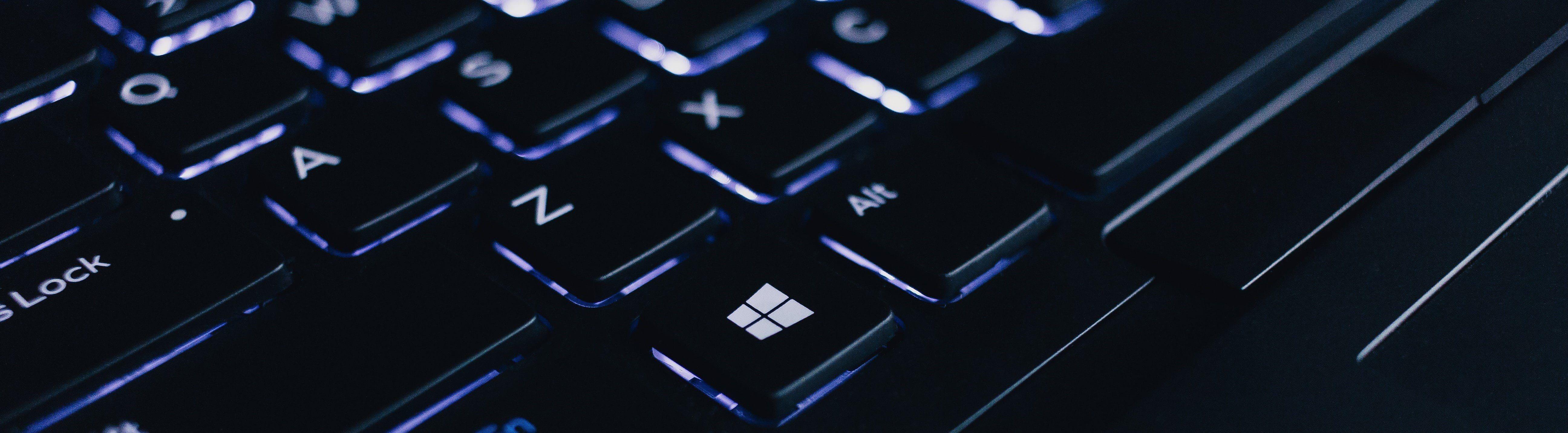 keyboard glowing