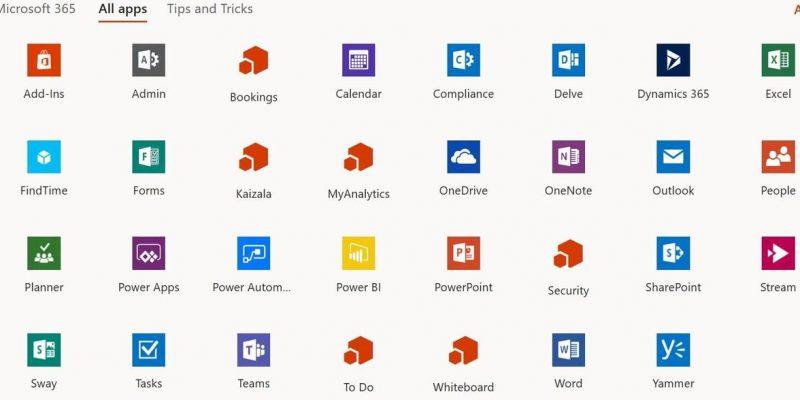microsoft-365-list-apps