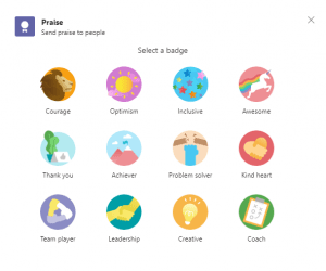 Hidden features in Teams - Praise