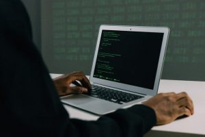 Hacker stealing business data